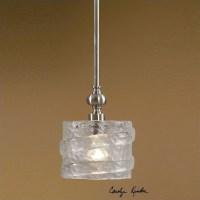 Uttermost Mossa 1 Light Seeded Glass Mini Pendant - 21925
