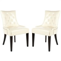 Safavieh Peyton Birch Dining Chair in Cream (Set Of 2 ...