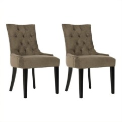 Safavieh Dining Chairs How To Weave A Chair Seat With Shaker Tape Ashley Birch Kd In Mole Grey Set Of 2 Mcr4701f Set2