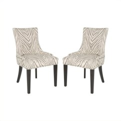 Safavieh Dining Chairs Hercules Stacking Lester Chair In Grey Zebra Set Of 2 Mcr4709q Set2