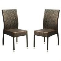 Safavieh Newbury Wicker Chair in Brown (Set Of 2 ...