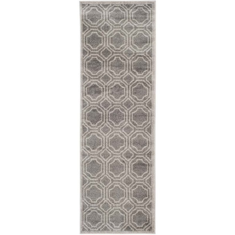 Safavieh Amherst Grey Indoor Outdoor Rug  Runner 23 x 7