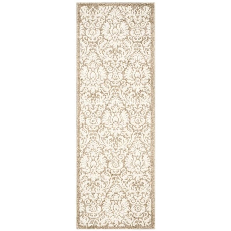Safavieh Amherst Wheat Indoor Outdoor Rug  Runner 23 x
