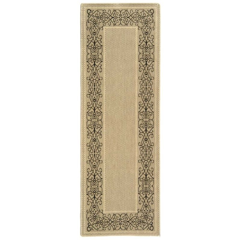 Safavieh Courtyard Sand Indoor Outdoor Rug  Runner 24 x