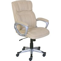 At Home Executive Office Chair in Fawn Tan Linen - 47911