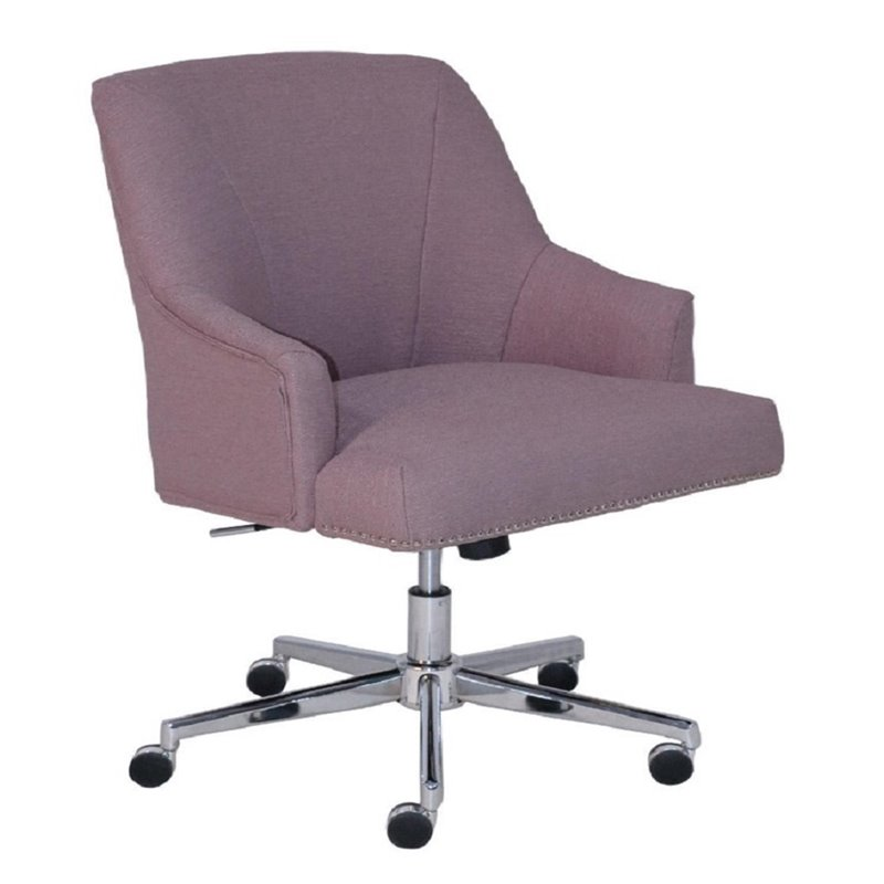 lilac office chair how to reupholster wingback serta at home style leighton twill swivel in