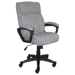 Microfiber Office Chair Metal Tulip Chairs For Sale Serta At Home Style Hannah I In Light Gray Chr200116