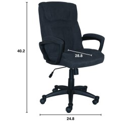 Microfiber Office Chair Handmade Rocking Serta At Home Style Hannah I In Black