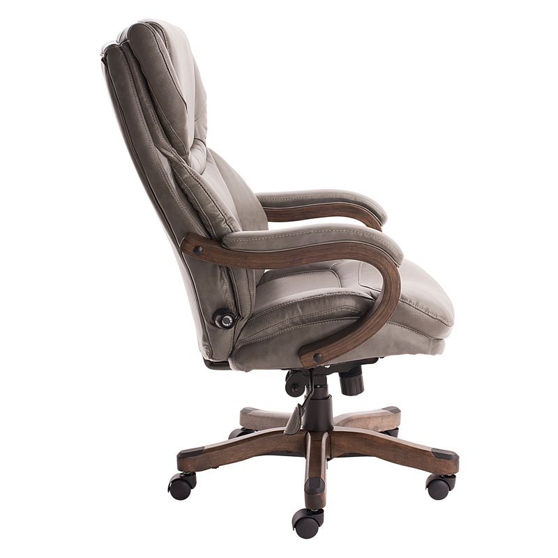Serta Big and Tall Executive Office Chair in Gray Bonded
