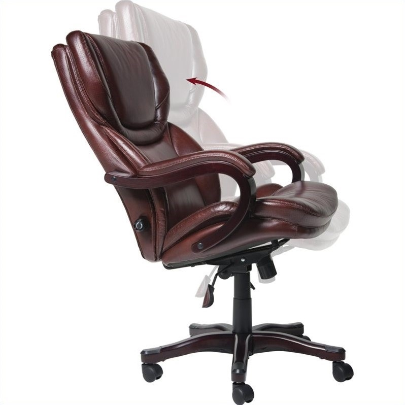 Executive Office Chair in Brown Bonded Leather  43506