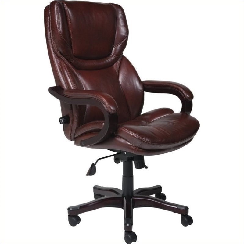 best big and tall desk chairs lounge chair plastic executive office in brown bonded leather - 43506