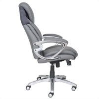 AIR Executive Office Chair Grey Bonded Leather - 43807