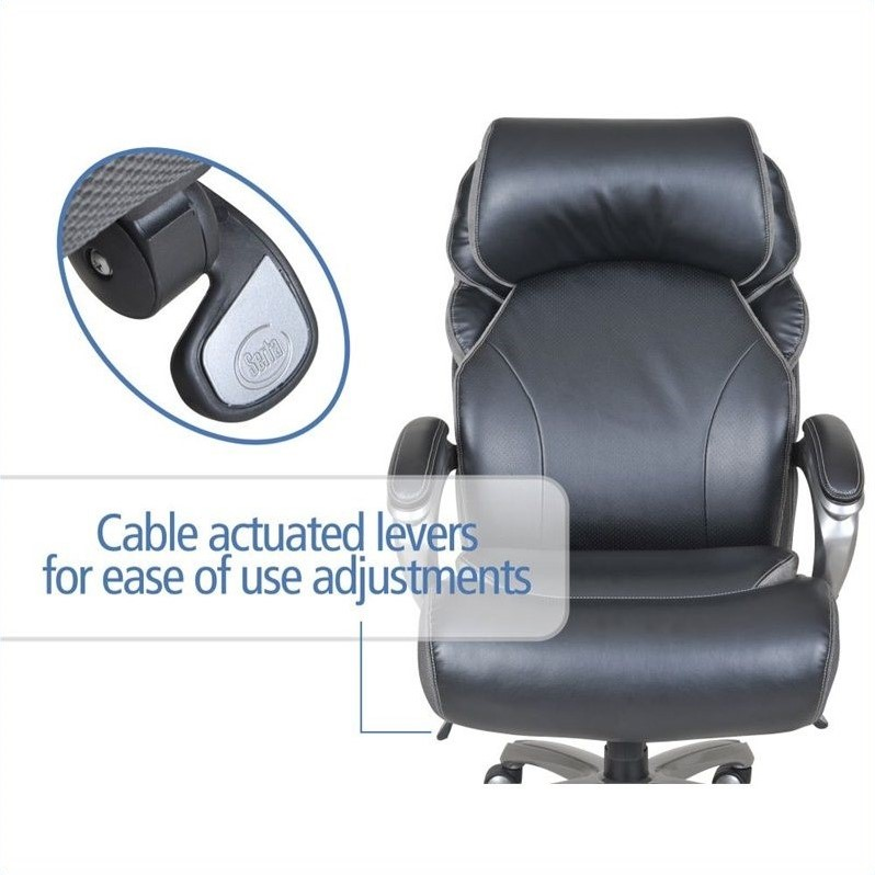 office chair levers race gaming big and tall executive in multi tone bliss black 44954