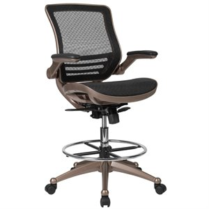 drafting chairs with arms antique gooseneck rocking chair value for sale upto 40 off free shipping on modern flash furniture swivel stool in black