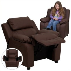 Kids Recliner Chair Small Red Contemporary In Brown Bt 7985 Kid Brn Lea Gg