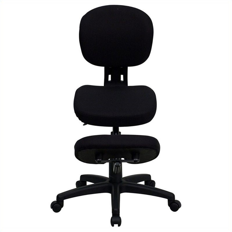 ergonomic chair kneeling review personalized kid chairs mobile office in black wl 1430 gg