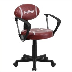 Brown Office Chair Without Arms Christmas Covers Nz Football Task With In And Black Bt 6181 Foot A Gg
