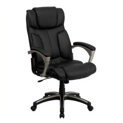Black Leather Office Chair High Back The Mermaid Book Folding In Bt 9875h Gg