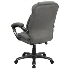 Office Chair High Back Cover Hire Lancashire Uk Gray Microfiber Upholstered Go 725 Gy Gg
