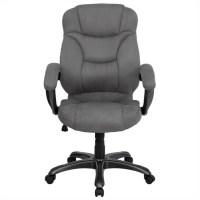 High Back Gray Microfiber Upholstered Office Chair - GO ...