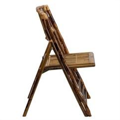 Bamboo Folding Chair Swivel Club American Champion In Brown X 62111 Bam Gg