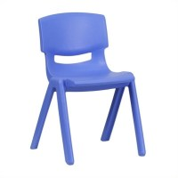 Plastic Stackable School Chair in Blue - YU-YCX-00X-BLUE-GG