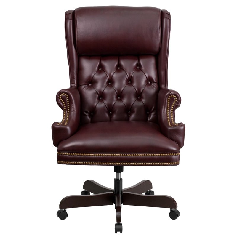 Leather Office Chair in Burgundy  CIJ600BYGG