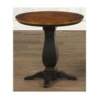 Largo Furniture Newbury Round Pedestal End Table in Black ...