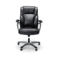 Black Leather Office Chair High Back Folding India Essentials Ergonomic In Ess