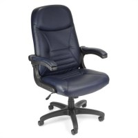 Navy Leather Executive Office Chair - 550-L-NAVY