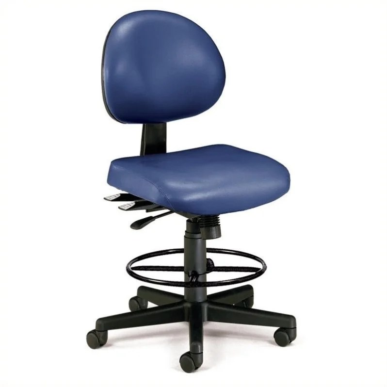 drafting office chair elegant covers charleston wv 24 hour task with kit in navy 241 vam dk 605