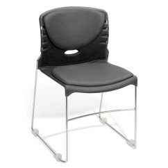 Steel Vinyl Chair Bubble With Stand Stack Stacking Anti Bacterial Seat And Back In Gray 320 Vam 604