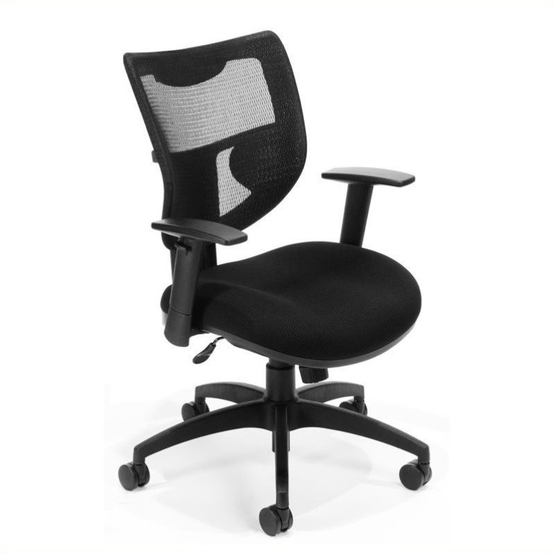 executive mesh office chair cheap kitchen table and chairs set ridge without headrest in black 581