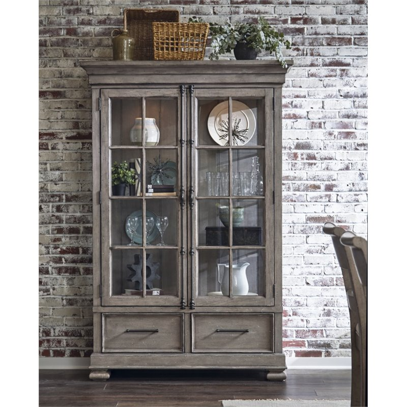 Samuel Lawrence Prospect Hill China Cabinet in Gray  S082140