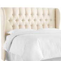 Skyline Upholstered Tufted Wingback King Headboard in ...