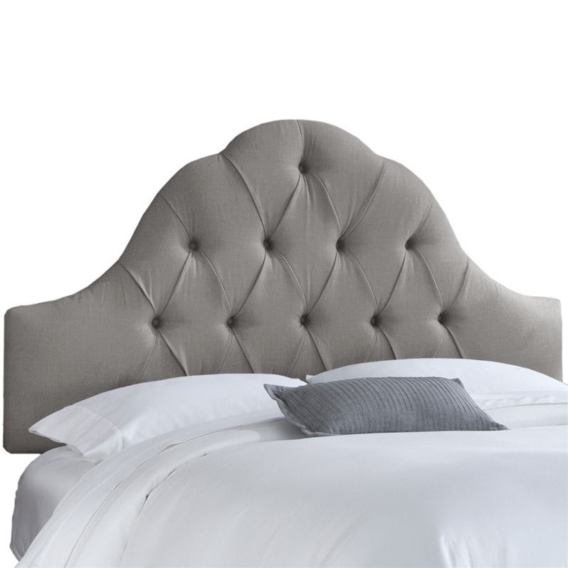 skyline furniture accent chairs cheap patio chair upholstered arch tufted queen headboard in gray - 862qlnngr