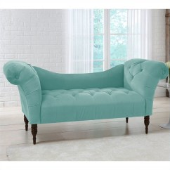 Tufted Chaise Lounge Chair Polka Dot Skyline Furniture In Caribbean 6006espvlvcrb