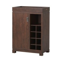 Wine Rack Cabinet with Removable Tray in Brown - ZH141191