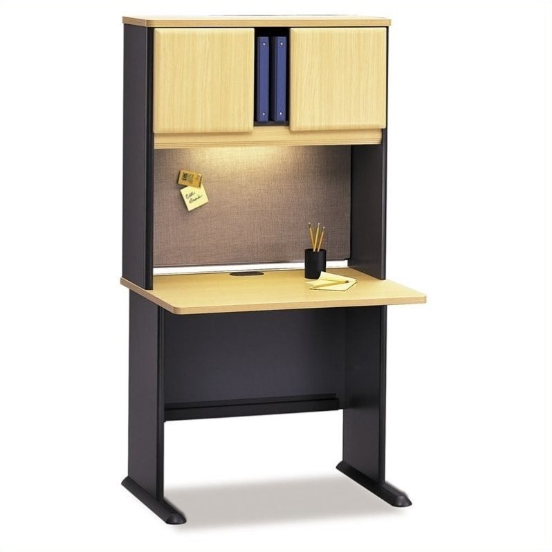 Bush Business Series A 36 Wood Computer Desk with Hutch