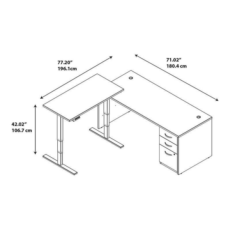 Series C Elite L Desk with Height Adjustable Standing