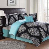 PEM America Barba 7 Piece Queen Comforter Set - CS8545BKQ7 ...