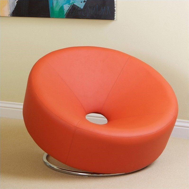 orange egg chair living room covers at target trent home angelino modern in 536852cy