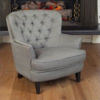 Trent Home Kennedy Fabric Club Chair in Gray - 706112CY