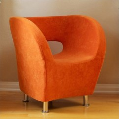 Orange Upholstered Chair Gaming Lounge Trent Home Colleen Accent Club In 746852cy