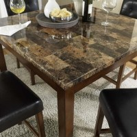5 Piece Faux Marble Top Counter Height Dining Set - DA7241