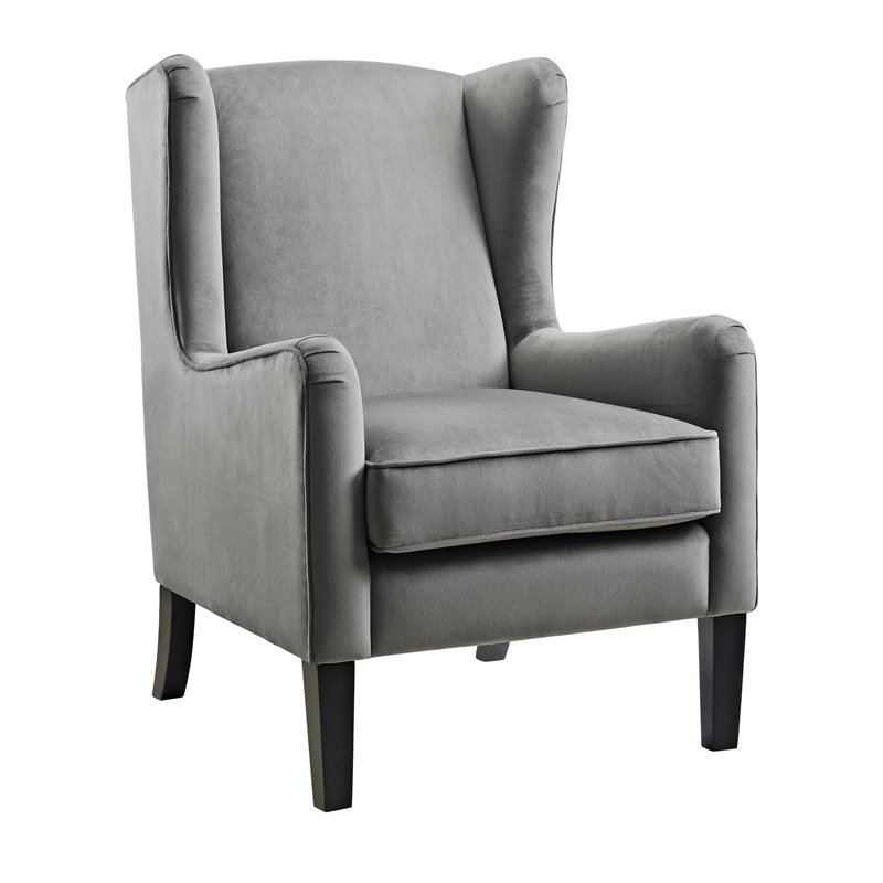 Wingback Accent Chair in Gray  DA7105