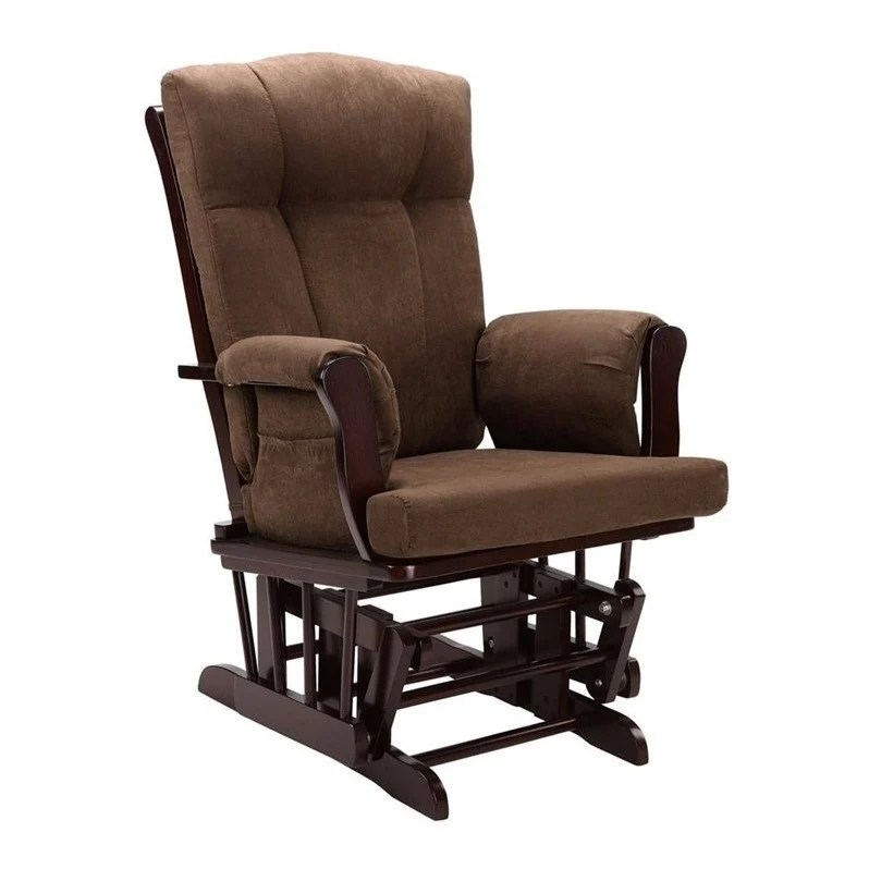 glider rocker chair cushions design back angle rocking and ottoman in espresso - wm4041