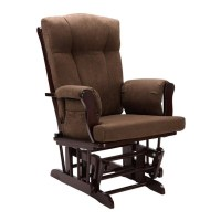 Glider Rocking Chair and Ottoman in Espresso - WM4041