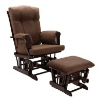 Glider Rocking Chair and Ottoman in Espresso