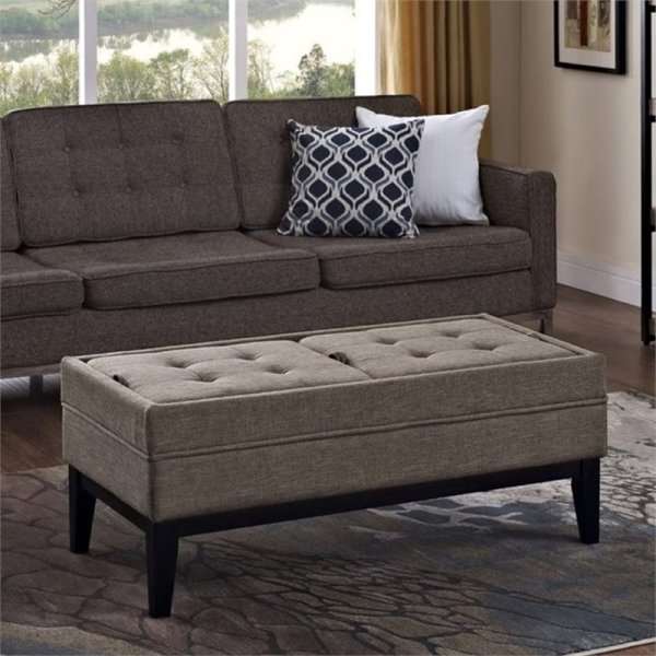 Storage Bench in Fawn Brown - 3AXCOT-243-BRL